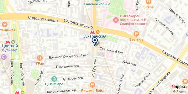 Золотая Корона на карте Москве