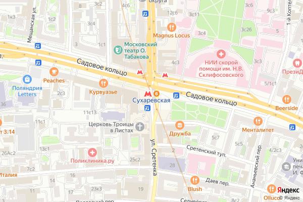 Ремонт телевизоров Метро Сухаревская на яндекс карте
