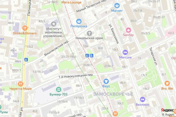 Ремонт телевизоров Улица Новокузнецкая на яндекс карте