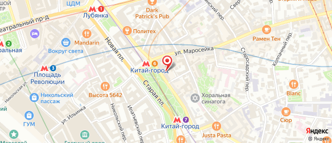 Карта расположения пункта доставки Lamoda/Pick-up в городе Москва