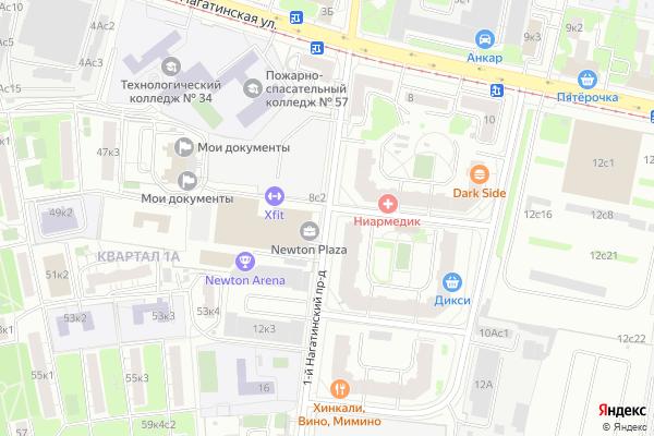 Ремонт телевизоров 1 й Нагатинский проезд на яндекс карте