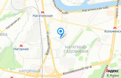 Местоположение на карте пункта техосмотра по адресу г Москва, проезд Нагатинский 1-й, д 15