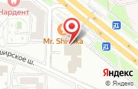 Схема проезда до компании Форт Инвес в Москве