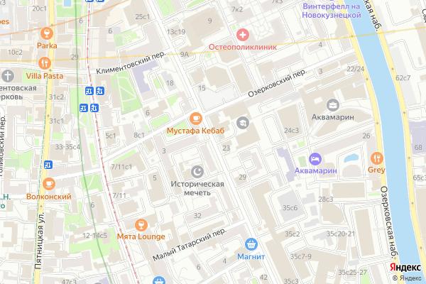 Ремонт телевизоров Улица Большая Татарская на яндекс карте