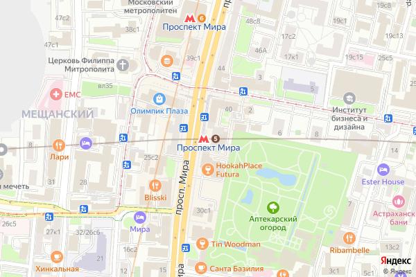 Ремонт телевизоров Метро Проспект Мира на яндекс карте