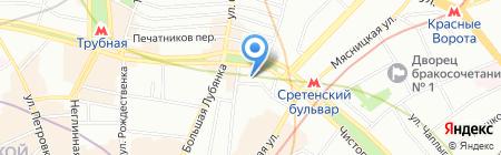 Бенвенуто на карте Москвы