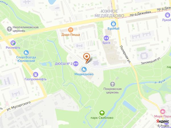 Остановка Спорткомплекс Медведково в Москве