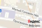Схема проезда до компании Гринфилдбанк в Москве