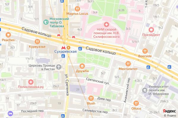Ремонт телевизоров Большая Сухаревская площадь на яндекс карте
