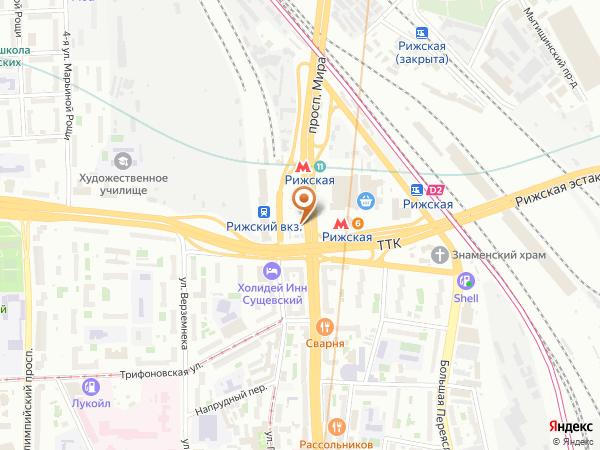 Остановка «Рижский вокзал», проспект Мира (3424) (Москва)