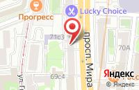 Схема проезда до компании Твт Дивизион в Москве