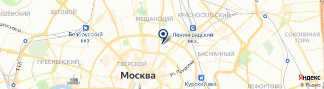 Расположение клиники «МедЦентрСервис» на Сухаревской