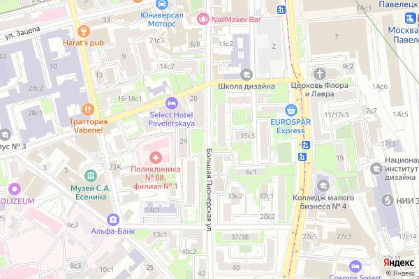 Ремонт телевизоров Улица Большая Пионерская на яндекс карте