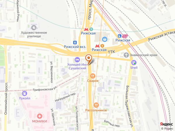 Остановка «2-й Крестовский пер.», проспект Мира (3425) (Москва)