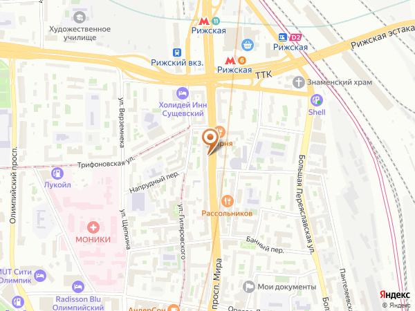 Остановка «Трифоновская ул.», проспект Мира (3426) (Москва)