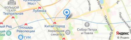 Технотур на карте Москвы