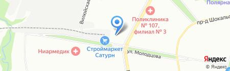 Дади на карте Москвы