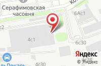 Схема проезда до компании Голубой Топаз в Москве