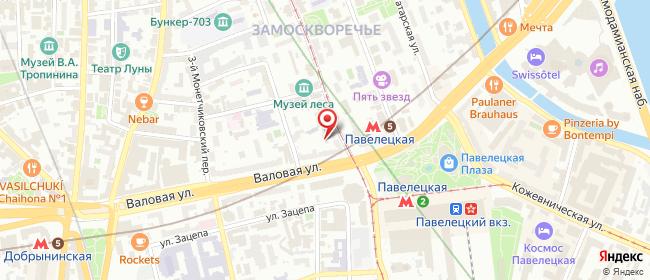 Карта расположения пункта доставки Москва Новокузнецкая в городе Москва