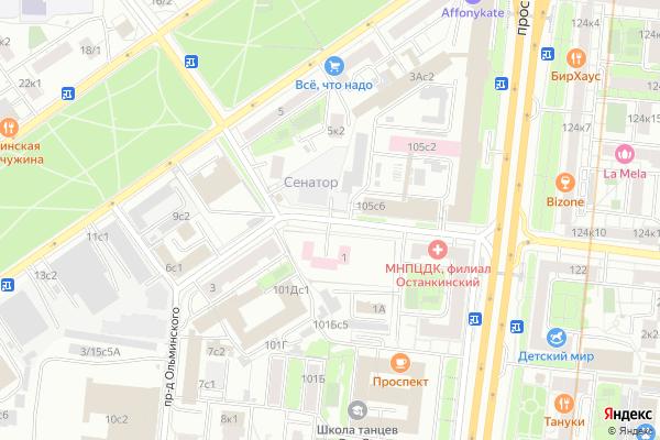 Ремонт телевизоров Ольминского проезд на яндекс карте