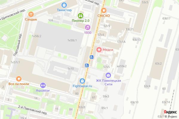 Ремонт телевизоров Улица Дубининская на яндекс карте