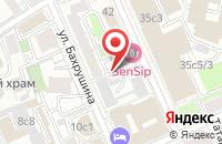Схема проезда до компании ИнжСпецСервис в Москве