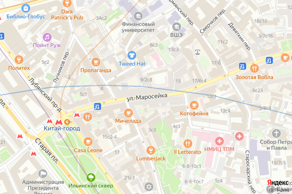 Ремонт телевизоров Улица Маросейка на яндекс карте