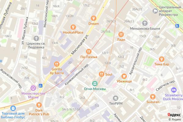 Ремонт телевизоров Кривоколенный переулок на яндекс карте
