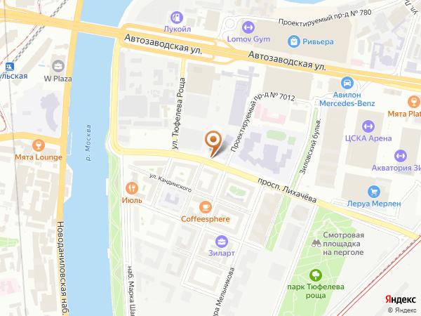 Остановка «Ул. Тюфелева Роща», проспект Лихачёва (1008978) (Москва)