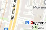 Схема проезда до компании Магазин хозяйственных товаров на проспекте Мира в Москве