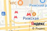 Схема проезда до компании Магазин печатной продукции на проспекте Мира в Москве