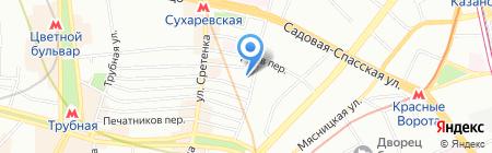 Спутник на карте Москвы