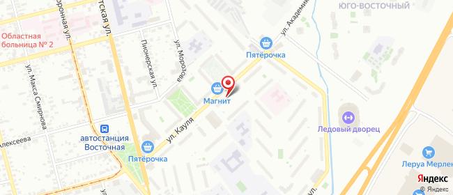 Карта расположения пункта доставки Тула Кауля в городе Тула