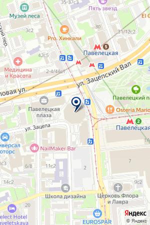 ПРЕДСТАВИТЕЛЬСТВО В МОСКВЕ КБ UBS WARBURG на карте Москвы