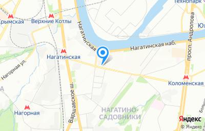 Местоположение на карте пункта техосмотра по адресу г Москва, ул Нагатинская, д 5