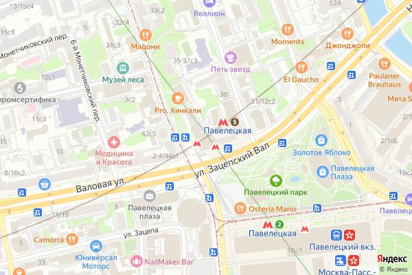 Ремонт телевизоров Метро Павелецкая на яндекс карте