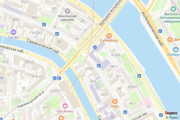 Ремонт телевизоров Улица Садовническая на яндекс карте