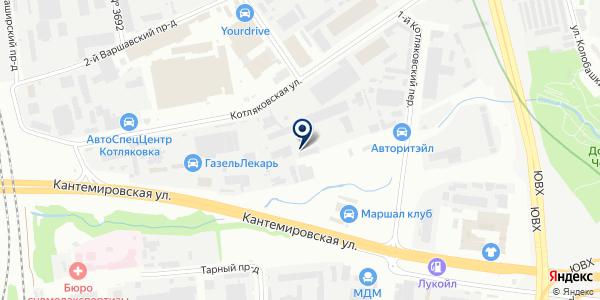 Декорос на карте Москве