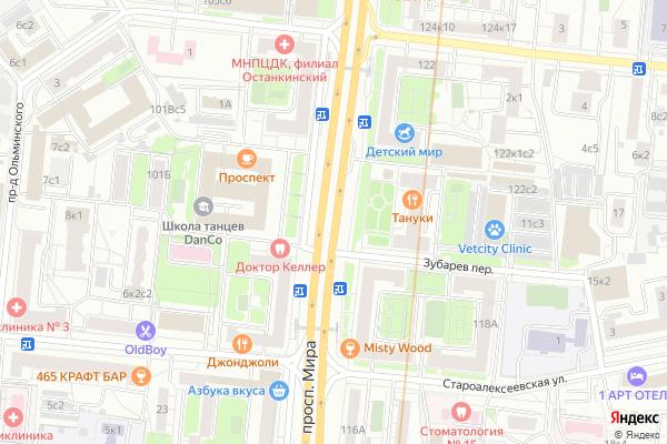 Ремонт телевизоров Мира проспект на яндекс карте