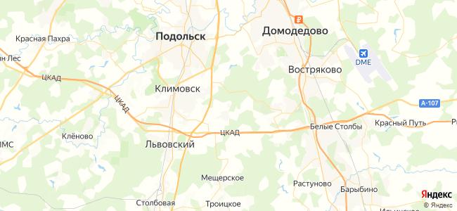 Отдых в Домодедово с бассейном - объекты на карте