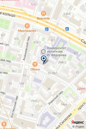 ФИНАНСОВАЯ КОМПАНИЯ РЕЕСТР-СВЯЗЬ на карте Москвы