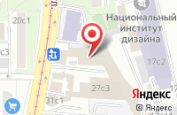 Схема проезда до компании Фроста Дизайн в Москве