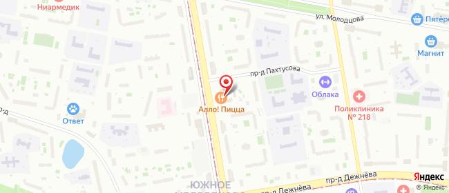 Карта расположения пункта доставки Москва Полярная в городе Москва