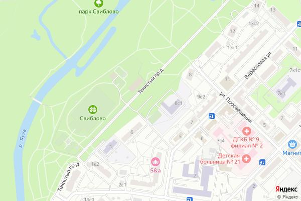 Ремонт телевизоров Тенистый проезд на яндекс карте
