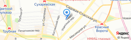 Рускард на карте Москвы