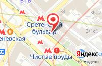 Схема проезда до компании Витязь в Москве