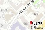 Схема проезда до компании Уланская в Москве