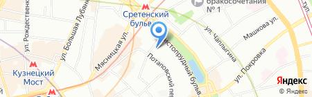 Хантсман на карте Москвы