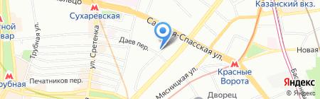 Цайт на карте Москвы
