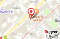 Схема проезда до компании Тверца в Москве